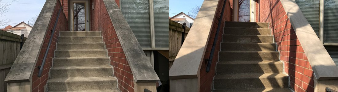 Staircase Power Washing Chicago